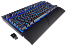 Keyboard Corsair K63 Wireless Mechanical Cherry MX Red - Blue Led