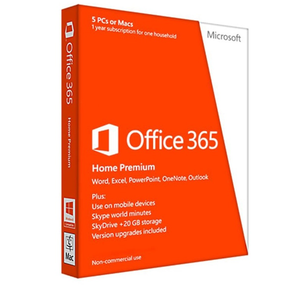 OFFICE 365 HOME 32BIT/64 EN SUBSCR 1 YR APAC EM MEDIALESS